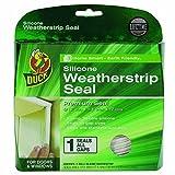 Duck Brand 281209 Premium Silicone Weatherstrip Seal, .375-Inch x .25-Inch x 17-Feet