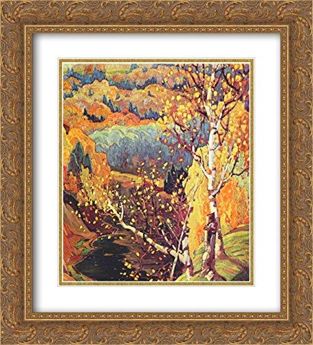 Franklin Carmichael 2x Matted 20x22 Gold Ornate Framed Art Print 'October - Franklin Galleria