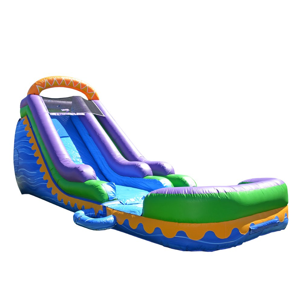 JumpOrange Commercial Grade Inflatable 18' Sunrise Super Party Water Slide, 100% PVC VINYL With Air Blower