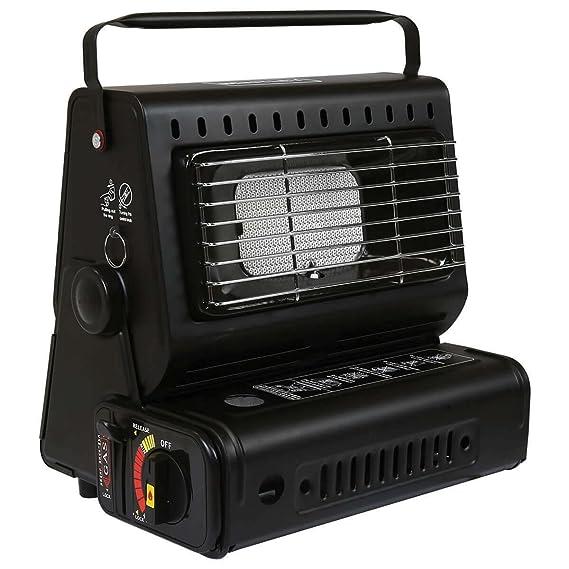 Calefactor portátil de gas para acampar o pesca al aire libre. Botellas de gas butano.: Amazon.es: Hogar
