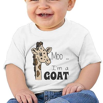 Nurlvns Moo, I'm A Goat 1 Toddler/Infant Short Sleeve Cotton T Shirts White