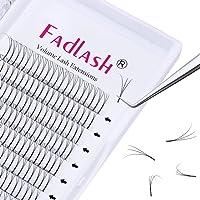 3D Premade Lash Fans 0.07 C 10 Long Stem Volume Eyelash Extensions 3D/5D 0.07/0.10 C/D Curl 8-20mm Extension Lashes (3D…