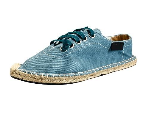 Insun Unisex Alpargatas de Cordones Zapatos Moda Suela Cuerda de Yute: Amazon.es: Zapatos y complementos