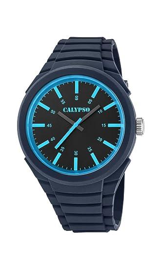 Calypso Reloj Análogo clásico para Hombre de Cuarzo con Correa en Plástico K5725/6: Calypso: Amazon.es: Relojes