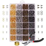 OPount3142 Pieces Jewelry Making Kit with Open Jump Rings, Lobster Clasps, Open Ring, Bent Chain Plier