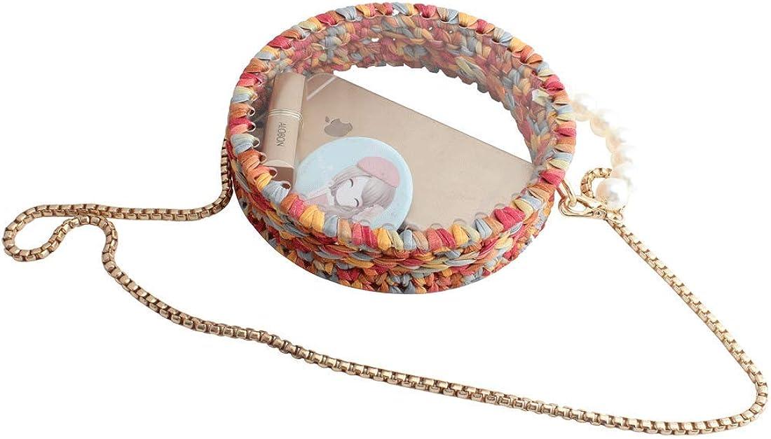 LETODE circular clear bags for women shoulder /& handbags braid clutches evening bag