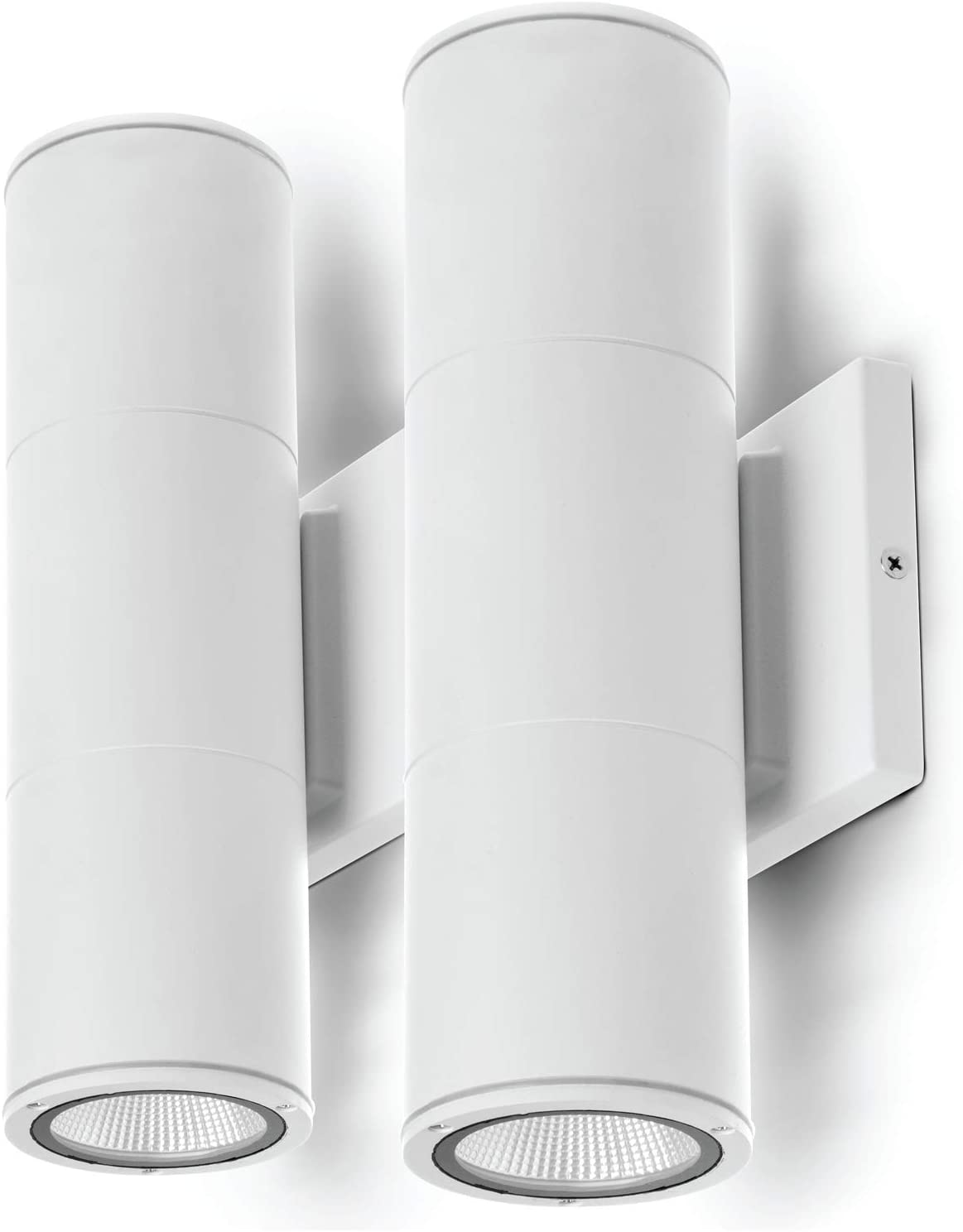 Home Zone Security LED Modern Wall & Porch Sconce Light (2-Set, White)