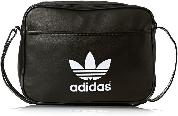 Artesano capacidad Barry  adidas Airliner Classic Shoulder Bag Black black/white Size:38 x 12 x 28  cm, 13 Liter: Amazon.co.uk: Sports & Outdoors