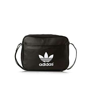 adidas Airliner Classic Shoulder Bag Black black white Size 38 x 12 x 28 ba34426d80b69