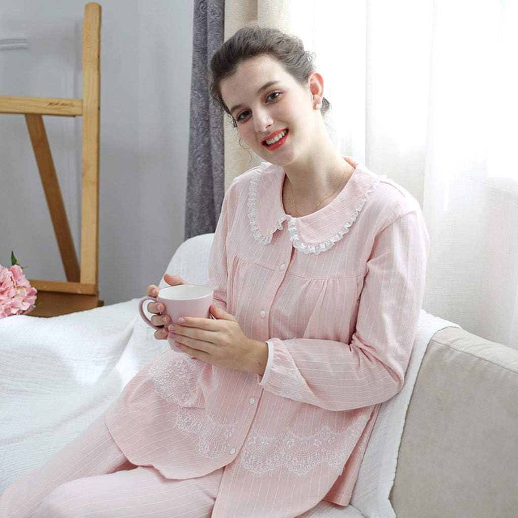 Pijamas Pijamas de Maternidad para Mujer de algodón camisón de ...