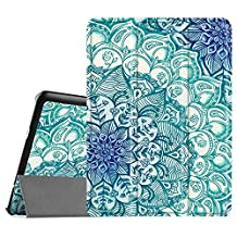 Fintie Samsung Galaxy Tab S2 9.7 Smart Shell Case - Ultra Slim Lightweight Stand Cover with Auto Sleep/Wake Feature for Samsung Galaxy Tab S2 Tablet, Emerald Illusions