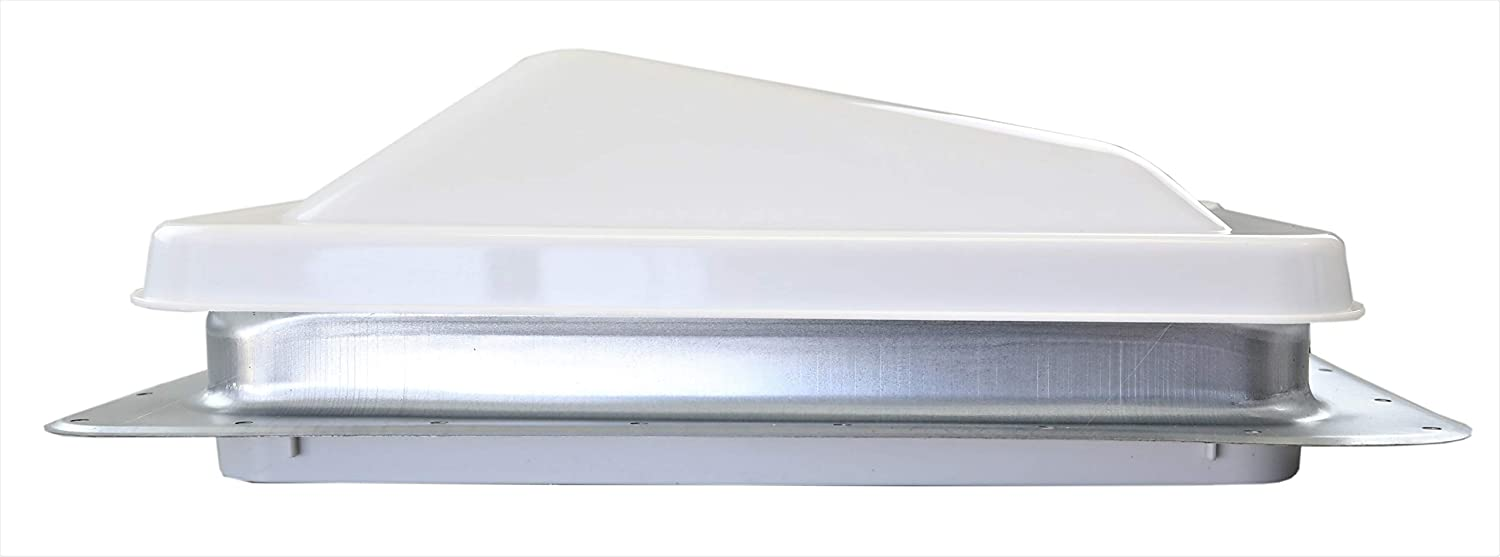Hengs Industries 14 Non-Powered RV Roof Vent with White Wedge Style Lid 71111A