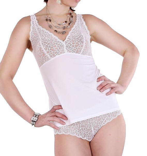 Speidel Lencería De Top, sujetador de camisa con punta en blanco, tallas 36 - 42: Amazon.es: Ropa y accesorios