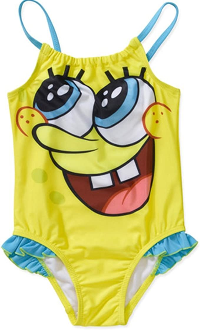 New Universal Studios SpongeBob SquarePants Youth Girls One Piece Bathing Suit