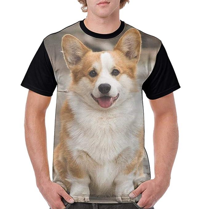 Men's Clothing Beautiful Summer Graphic T Shirt Men Tops Tees Corgi Printed Women Funny T-shirt Short Sleeve Casual Tshirts