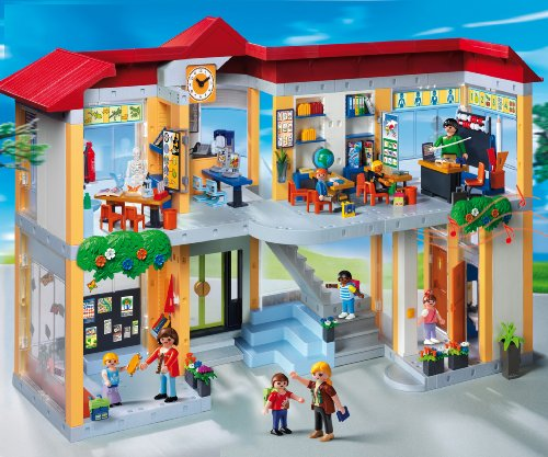 Playmobil 4324 School Set Furnished School Building Amazon Home