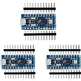 KOOKYE 3PCS Pro Micro Module Board ATmega32U4 5V/16MHz with 2 row pin header …