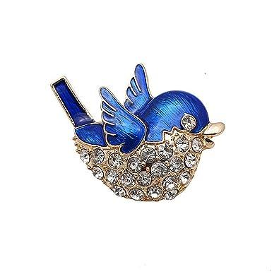 ed52d7019dc2 iTemer Broches de bisuteria para ropa Pins para chaquetas Broches para  zapatos Un hermoso recuerdo Azul Alondra Zircon con incrustaciones Metal  1PC  ...