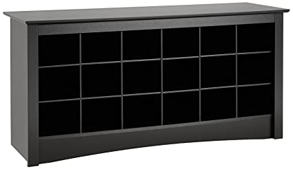 Charmant Prepac Black Shoe Storage Cubbie Bench