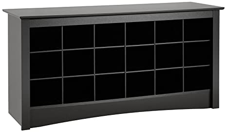 Awe Inspiring Prepac Shoe Storage Cubbie Bench 24 X 48 X 16 Black Caraccident5 Cool Chair Designs And Ideas Caraccident5Info