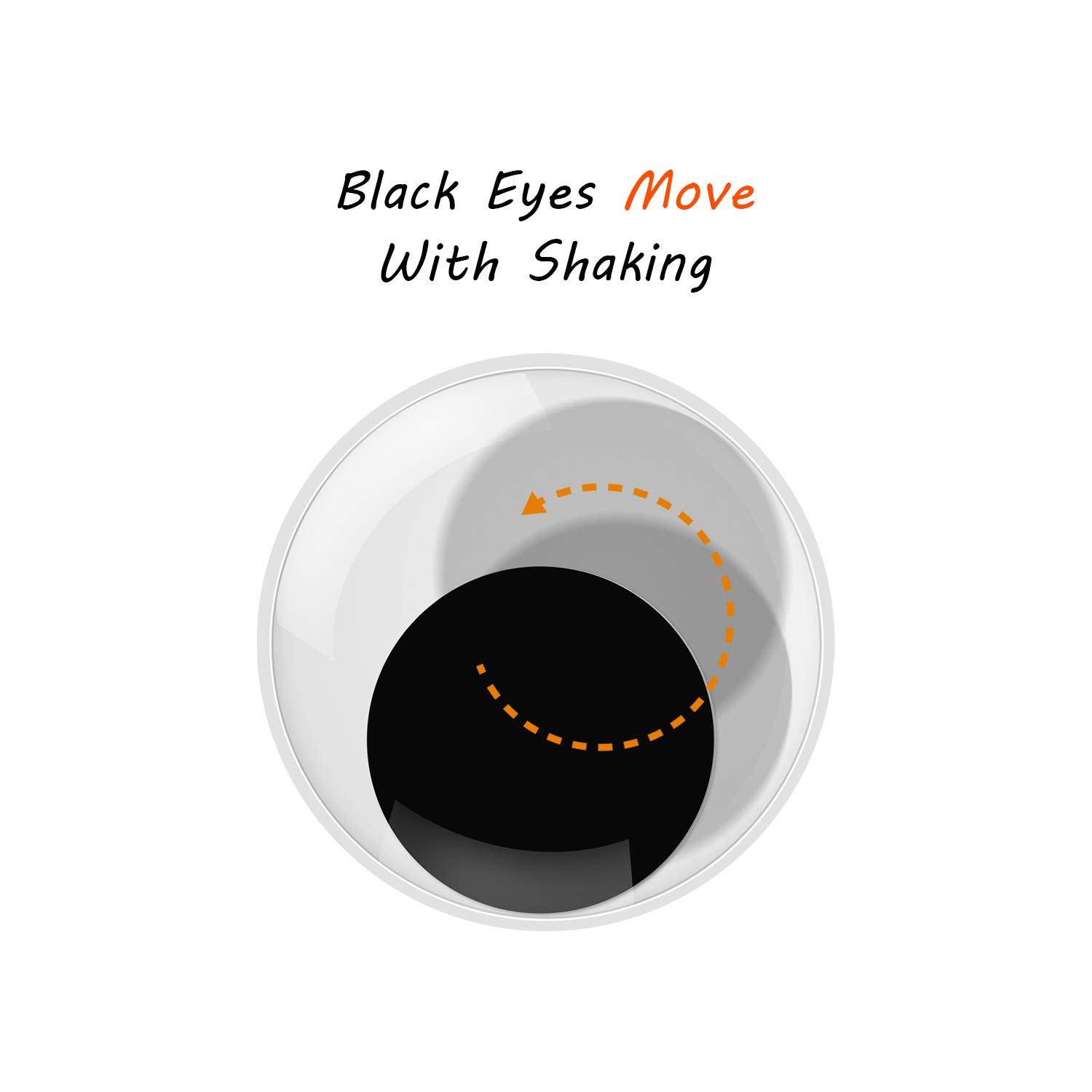 6 Pieces Giant Googly Eyes Large Giant Wiggle Googly Eyes Stickers Black Round Googly Eyes with Self Adhesive for Craftwork Toy Accessories DIY Scrapbooking Crafts Decorations 2 3 4 Inch