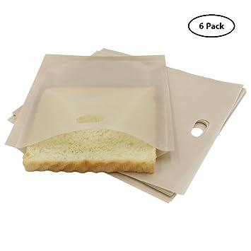 Tostadora bolsas sin Gluten, antiadherente reutilizable tostadora bolsas para sándwiches para queso a la parrilla