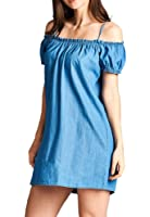 The Market Womens Off Shoulder Basic Shift Dress Small to 3XL