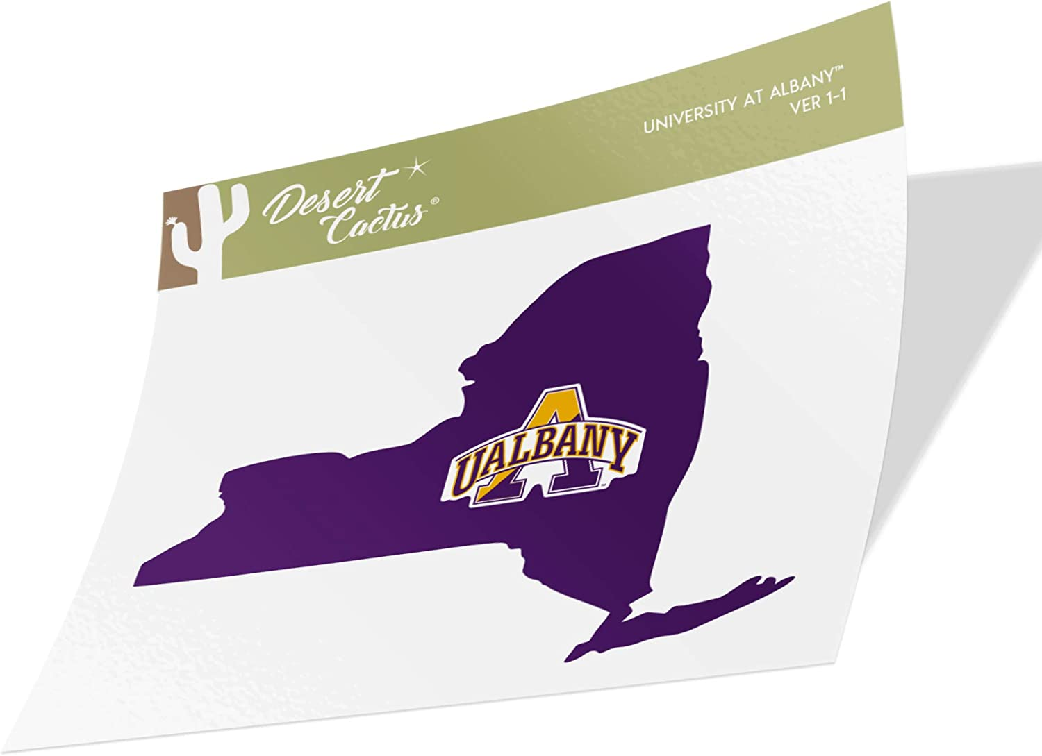 University at Albany UALBANY Great Danes SUNY NCAA Vinyl Decal Laptop Water Bottle Car Scrapbook (State Boarder Sticker)