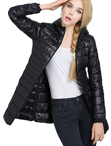 HengJia Women's Hooded Packable Down Puffer Coat Lightweight ...