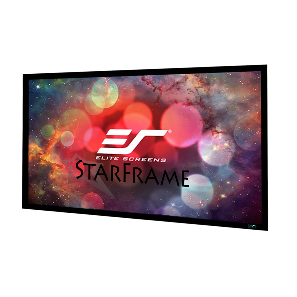Elite Screens StarFrame Series, 120-inch 16:9, Active 3D - 4K/8k Ultra HD Fixed Frame Home Theater Projector Screen, SF120HW2