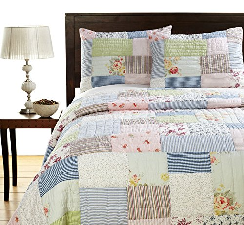 King Be-You-tiful Home Lattice Patchwork Set Twin Multicolord