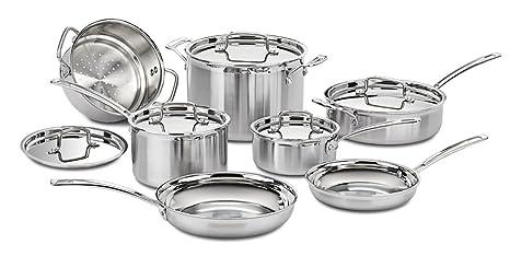 Amazon.com: Cuisinart Multiclad Pro Triple Ply Acero ...