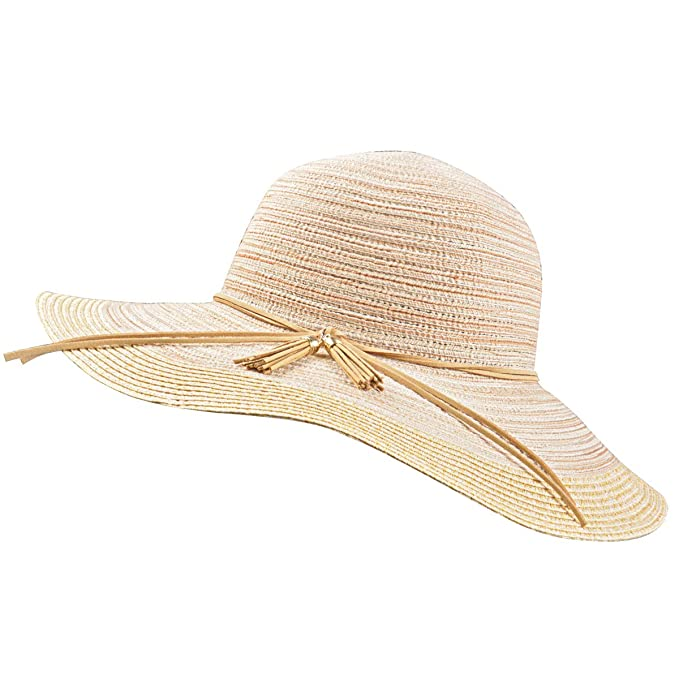 Image Unavailable. Image not available for. Color  Jersri Women Foldable  Straw Sun Hats ... 8281510fb88