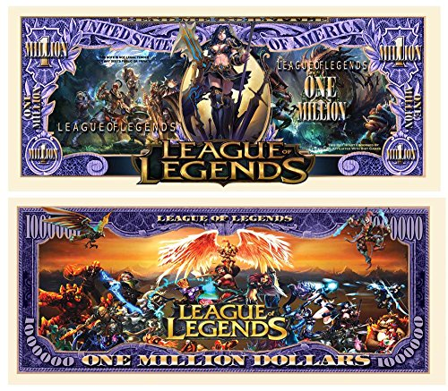 American Art Classics Limited Edition League of Legends Collectible Million Dollar Bill in Currency Holder (Best League Of Legends Player)