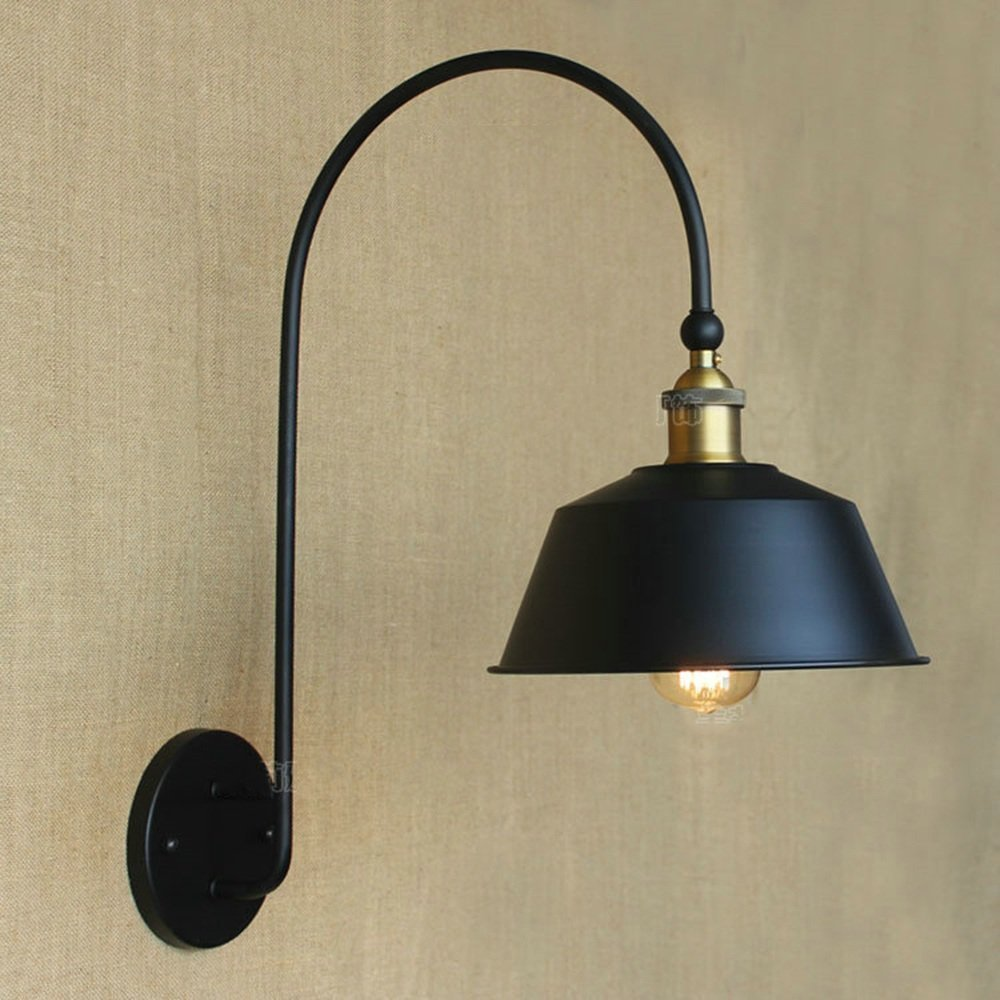 HOMEE Wall lamp- american industrial village pastoral retro bend iron, Wall lamp cafe nostalgic balcony wall lamp --wall lighting decorations by HOMEE