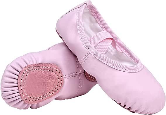 STELLE Premium Girls Ballet Slipper Ballet Shoes, Flats for Dance/Gymnastics (Toddler/Little Kid)