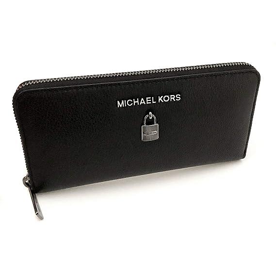 905291682d860 Michael Kors New Womens Large Black Adele Leather Purse Wallet Gift Boxed   Amazon.co.uk  Clothing