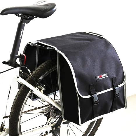 """30L Bicycle Rear Rack Back Seat Saddle Cycling Bike Bag Storage Pannier Nylon 6/"""""""