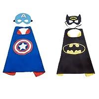 vpan Super Hero Capes,2 Capes et 2 Masques - Enfants Cadeaux d'anniversaire - Fête d'Anniversaire Saveurs de Conception Cosplay