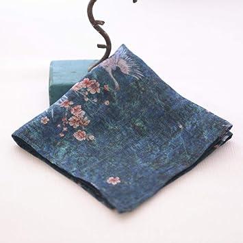 Pañuelos de algodón y lino de estilo chino, damas, sudor, cuadrados pequeños, pañuelos literarios, toallas decorativas-Flor 9: Amazon.es: Salud y cuidado personal