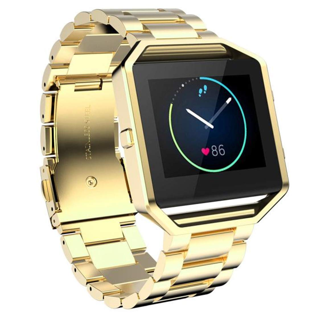 Amazon.com: Stailess Steel Bracelet Strap Watch Band for Fitbit Blaze Smart Watch Gold: Clothing