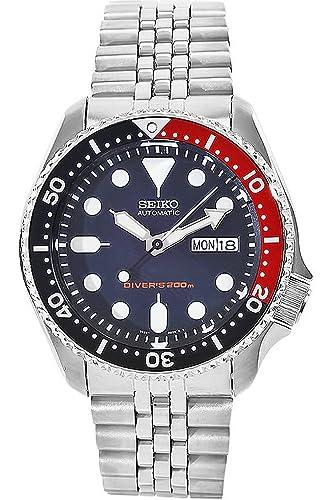 Seiko Reloj Análogo clásico para Hombre de Cuarzo con Correa en Acero Inoxidable SKX009K2: Amazon.es: Relojes