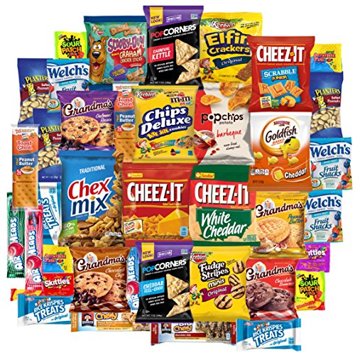 Snack Chest Care Package (40 Count) Variety Snacks Gift Box - College Students, Military, Work or Home - Over 3 Pounds of Chips Cookies & Candy! (Care Snack)