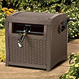 Suncast Resin Hose Hideaway with Hose Guide - Durable Outdoor Hose Storage Reel with...