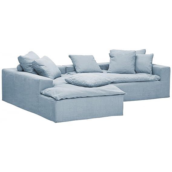 ecksofa hellblau cheap phill hill polsterecke infinity lederlook weigrau ca x cm with ecksofa. Black Bedroom Furniture Sets. Home Design Ideas