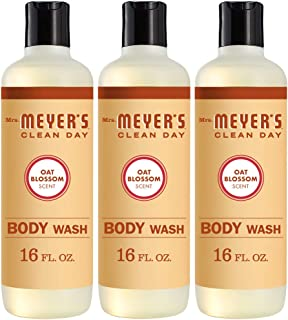 product image for Mrs. Meyer's Clean Day Moisturizing Body Wash, Cruelty Free and Biodegradable Formula, Oat Blossom Scent, 16 oz- Pack of 3