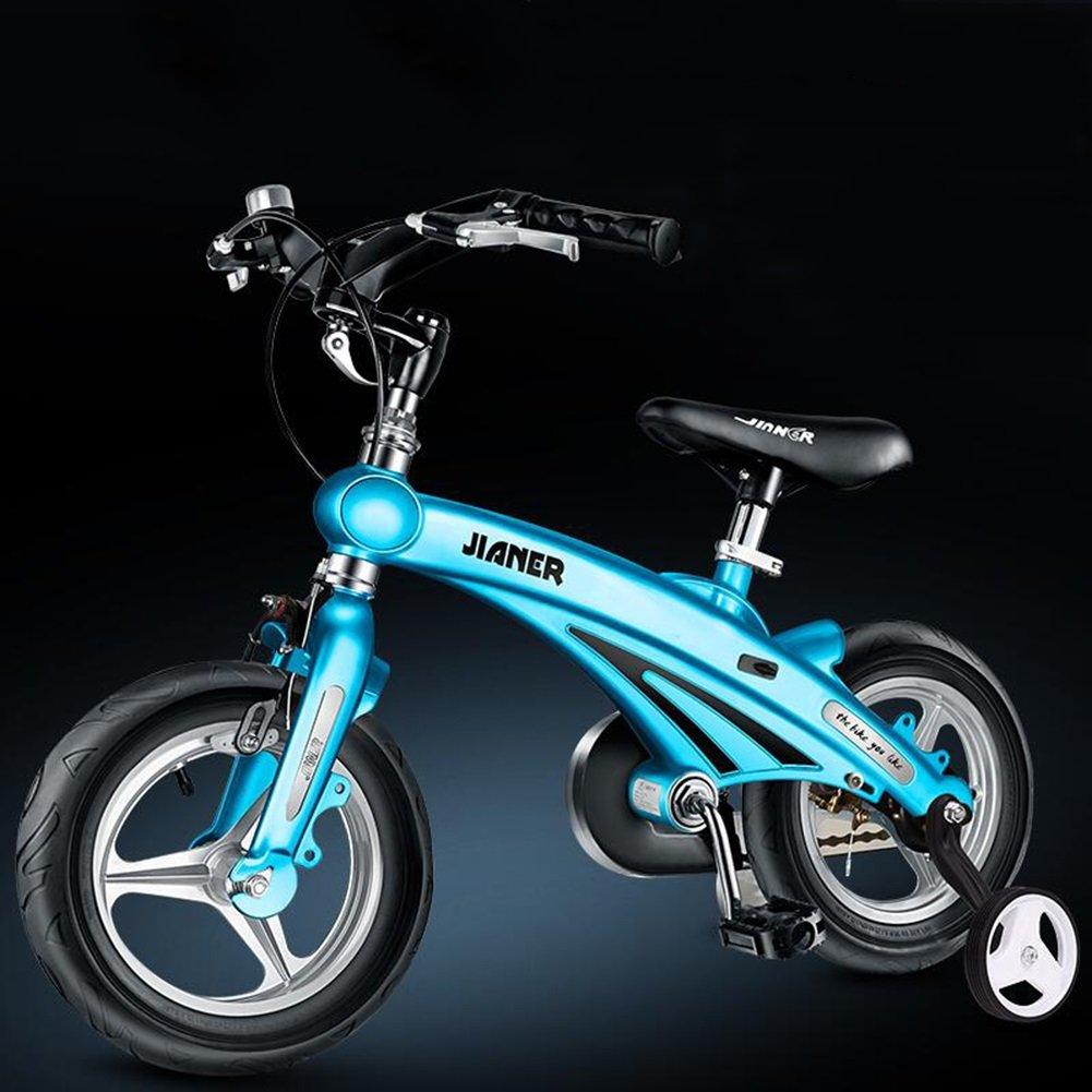 XQ 子供の自転車3歳6歳の赤ちゃんのキャリー12/14/16インチマウンテンバイク自転車自転車折りたたみ自転車 子ども用自転車 ( 色 : 青 , サイズ さいず : 14-inch ) B07C5M5186 14-inch|青 青 14-inch