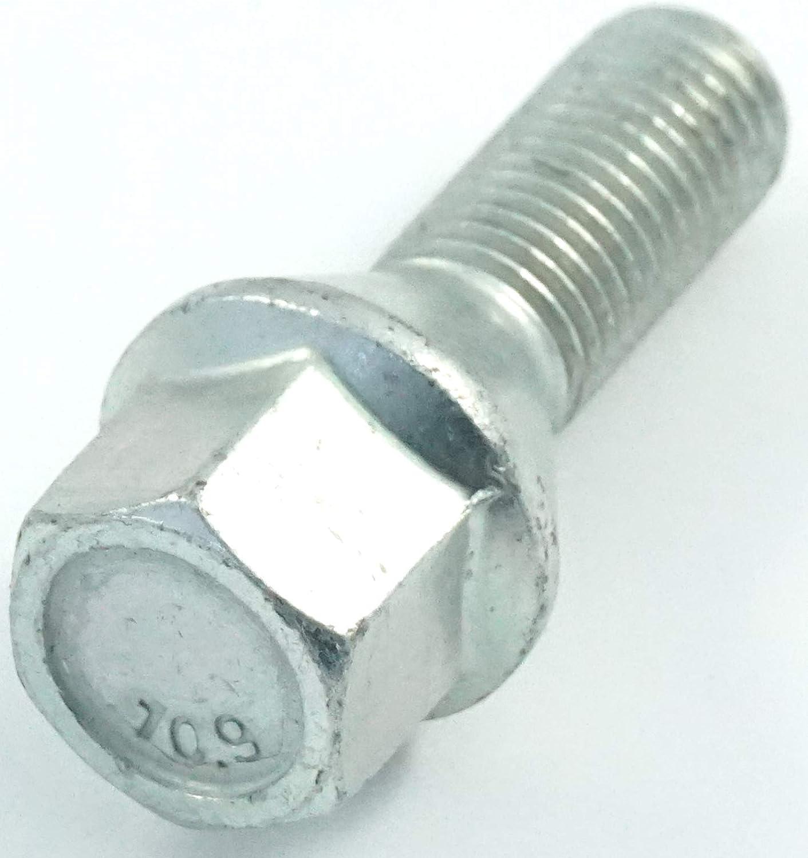20x Verzinkte Radschrauben Kegel M12 x 1,5 26mm SW17