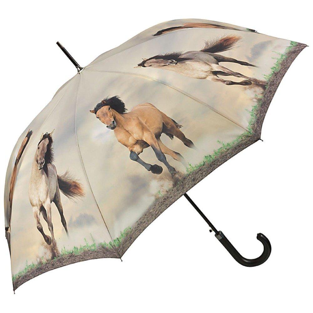 VON LILIENFELD® Parapluie Automatique Femme Homme Chevaux Sauvages 5798A