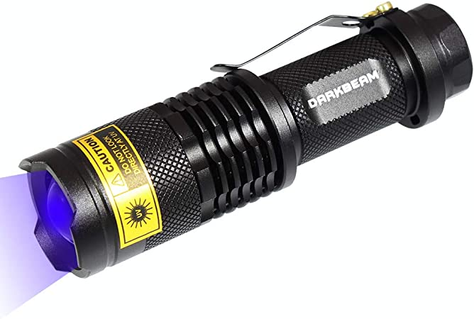 365nm UV Flashlight Ultra Violet LED Black Light Torch Inspection Lamp 501B 10W